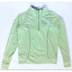 PINK Victoria's Secret Green Half Zip Jacket